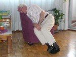 vieil homme endormi